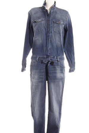 Mavi Jeans Co. Tuta blu scuro-grigio ardesia modello web stile casual