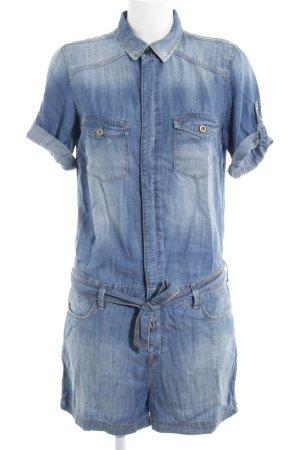 Mavi Jeans Co. Jumpsuit stahlblau-himmelblau Casual-Look