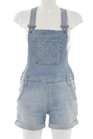 Mavi Jeans Co. Bib Denim azure flecked casual look