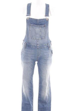 Mavi Jeans Co. Salopette en jeans bleuet style décontracté