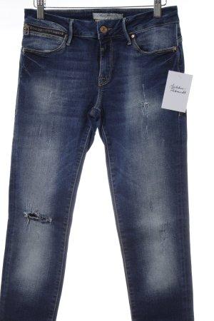 Mavi Jeans Co. Pantalón de tubo azul look casual