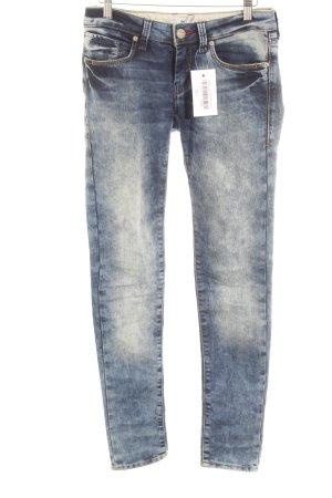 Mavi Jeans Co. Drainpipe Trousers dark blue-pale blue flecked casual look