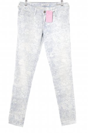 Mavi Jeans Co. Röhrenhose himmelblau-wollweiß Blumenmuster Washed-Optik