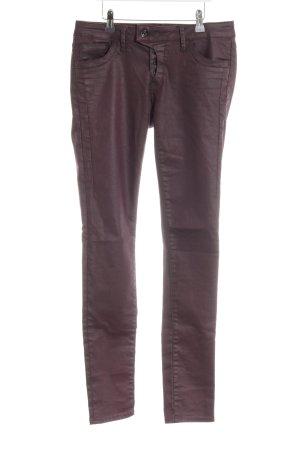 Mavi Jeans Co. Skinny Jeans brombeerrot Glanz-Optik