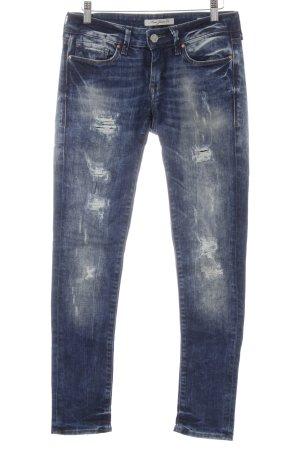 Mavi Jeans Co. Skinny Jeans dunkelblau-weiß Destroy-Optik