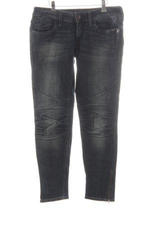 Mavi Jeans Co. Skinny Jeans graublau-bronzefarben Destroy-Optik