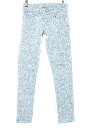 Mavi Jeans Co. Skinny Jeans himmelblau-grau abstraktes Muster Casual-Look