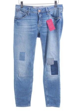 Mavi Jeans Co. Skinny Jeans kornblumenblau Patchwork-Optik