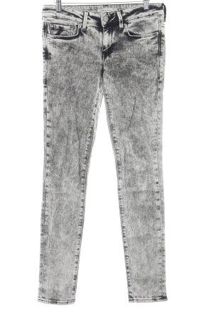 Mavi Jeans Co. Skinny Jeans schwarz-hellbeige Bleached-Optik