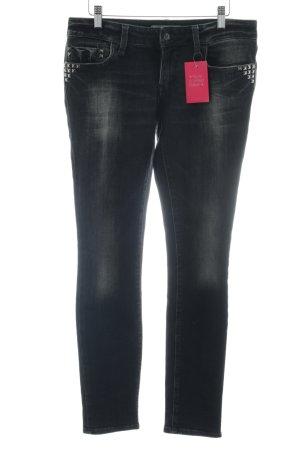Mavi Jeans Co. Skinny Jeans schwarz Punk-Look