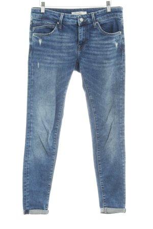 Mavi Jeans Co. Skinny Jeans stahlblau Used-Optik