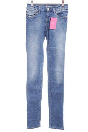 Mavi Jeans Co. Skinny Jeans stahlblau-wollweiß Washed-Optik