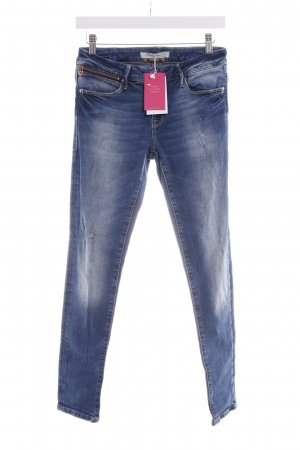 Mavi Jeans Co. Slim Jeans blau-stahlblau Destroy-Optik