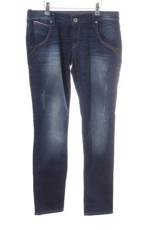 Mavi Jeans Co. Slim Jeans dunkelblau-weiß 90ies-Stil