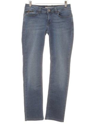 Mavi Jeans Co. Straight-Leg Jeans blau schlichter Stil