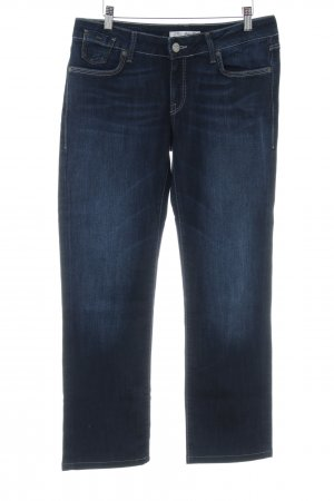 Mavi Jeans Co. Straight-Leg Jeans dunkelblau-graublau Webmuster Casual-Look