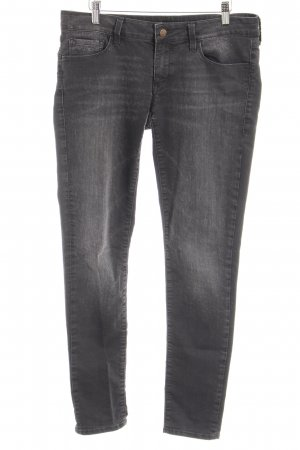 Mavi Jeans Co. Straight-Leg Jeans grau Motivdruck Casual-Look