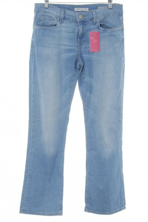 Mavi Jeans Co. Straight-Leg Jeans himmelblau meliert Used-Optik