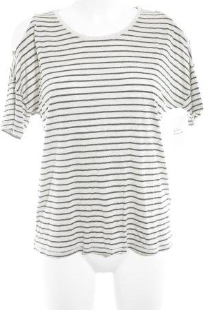 Mavi Jeans Co. T-Shirt hellbeige-schwarz Streifenmuster Casual-Look