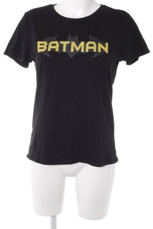 Mavi Jeans Co. T-Shirt schwarz-goldfarben Motivdruck Casual-Look