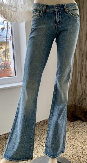 Mavi Jeans bootcut bleu azur coton