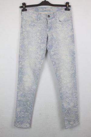 MAVI Jeans Gr. 27 blau weiß Mod: Low Rise Super Skinny (18/3/065)