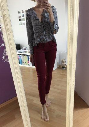 Mavi Jeans Jeans Serena Größe 27/30 Bordeaux rot