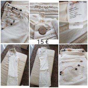 Mavi Jeans mit Pailletten weiß wie neu Gr. 25/32
