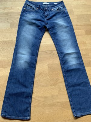 Mavi Jeans Co. Straight Leg Jeans steel blue cotton