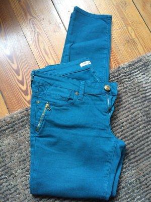 MAVI Jeans - stylische Röhrenjeans, geniales Petrol 29/32, Model Lucia