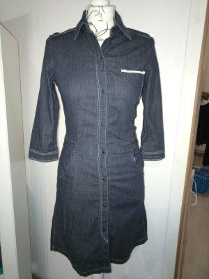 Mavi Robe en jean noir-bleu foncé coton