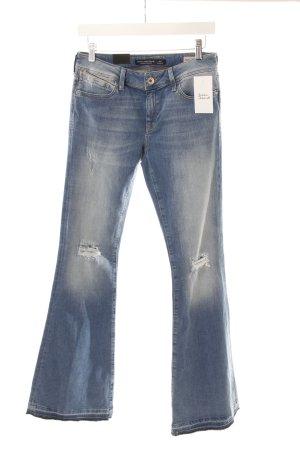 Mavi Jeansschlaghose blau Destroy-Optik