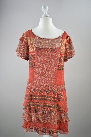 Mavi Kleid mit Muster rot Größe M