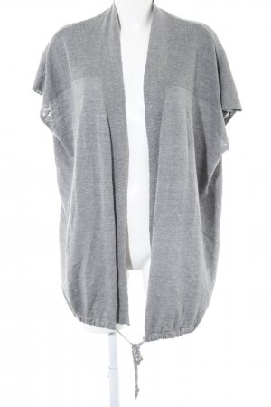Mavi Cardigan a maniche corte grigio chiaro stampa integrale stile casual