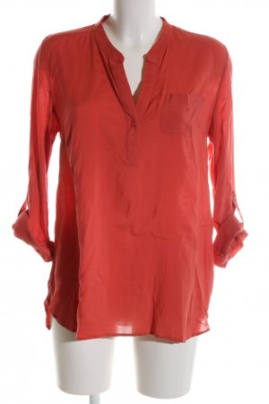 Mavi Langarm-Bluse rot Business-Look