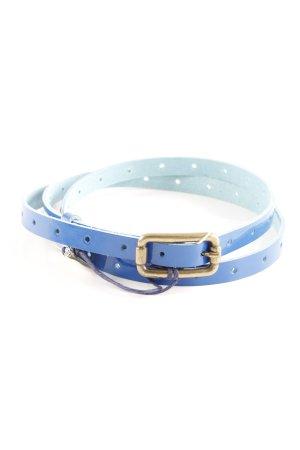 Mavi Lederen riem donkerblauw simpele stijl