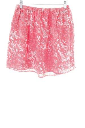 Mavi Mini-jupe motif de fleur style décontracté