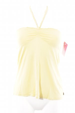 Mavi Halter Top yellow beach look