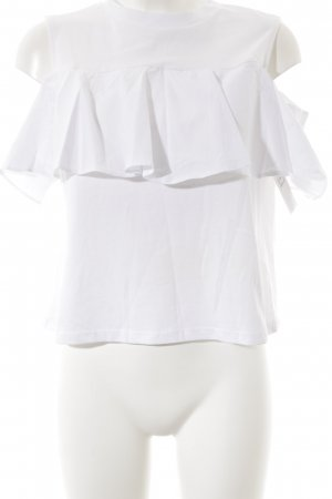 Mavi Frill Top white casual look