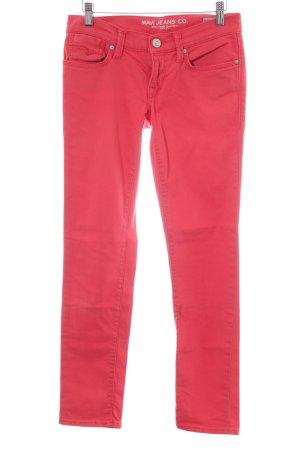 Mavi Skinny Jeans rot Business-Look