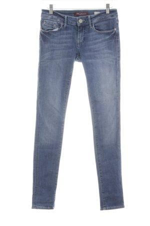 Mavi Skinny Jeans neonblau Washed-Optik