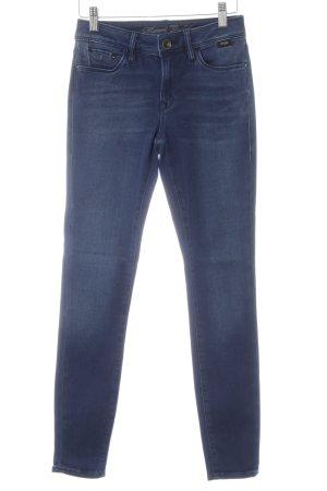 Mavi Skinny Jeans blau Farbverlauf Bleached-Optik