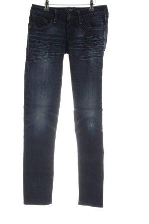 Mavi Skinny Jeans dunkelblau Destroy-Optik