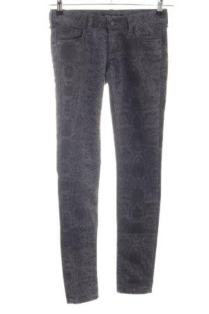 Mavi Skinny Jeans hellgrau Animalmuster Casual-Look