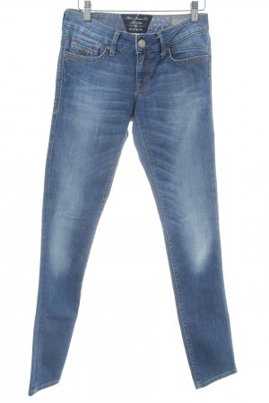 Mavi Slim Jeans blau meliert Used-Optik