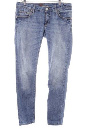 Mavi Slim Jeans stahlblau Jeans-Optik
