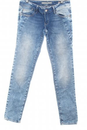 Mavi Slim Jeans stahlblau Washed-Optik