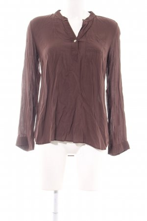 Mavi Stand-Up Collar Blouse brown business style