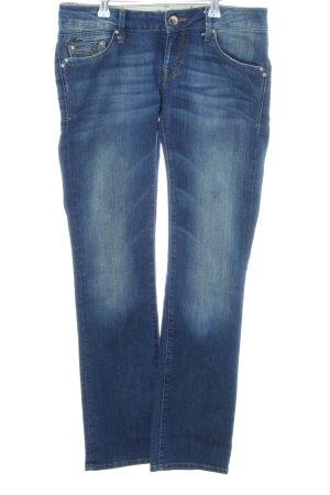 Mavi Straight-Leg Jeans neonblau Casual-Look