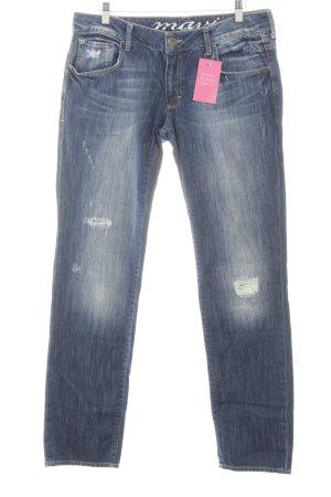 Mavi Straight-Leg Jeans neonblau Jeans-Optik